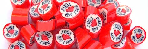 Wedding Party Favors – Jodi loves Brian lollies
