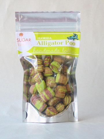 Alligator poop candy